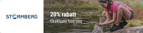 20% eksklusiv Stormberg rabattkode