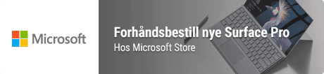 Forhåndsbestill Surface Pro