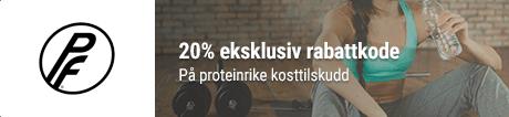 80% rabatt hos Proteinfabrikken